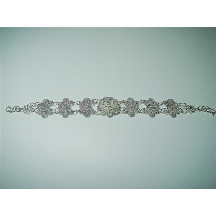 Craze perle brodé vert et polymère bracelet cabochon argile de talon et dos en cuir OVCM3