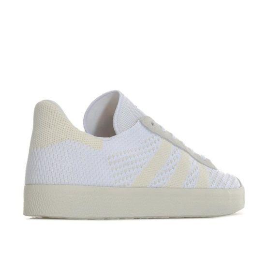 hot sale online 4594b d91a2 Baskets adidas Originals Gazelle Primeknit pour femme en blanc. Blanc Blanc  - Achat   Vente basket - Cdiscount