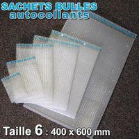 POCHETTE POSTALE  Lot de 50 Sachets bulles d'air 400x600 mm avec rab