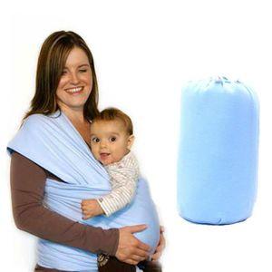 a375a01dec8 FR-2823 Porte-bébé nouveau-né porte-bébé mains libres écharpe extensible  bleu clair