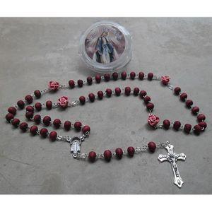 CHAPELET Chapelet en bois de rose parfumé avec boite Vierge