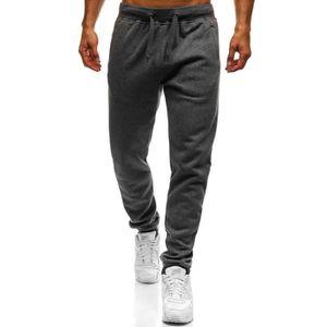 SURVÊTEMENT Jogging molleton pour homme Jogging M837 gris fonc 431b7b6bdba