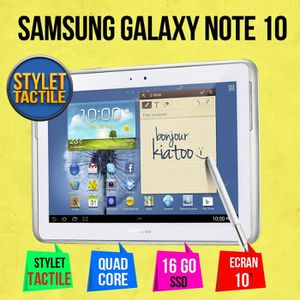TABLETTE TACTILE SAMSUNG GALAXY NOTE 10 POUCE