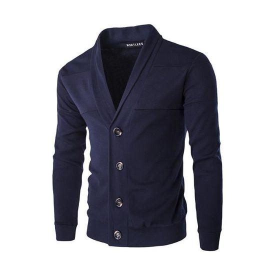 De Sport Luxe En Uni Veste Masculin Casual Vêtements Maille Marque Homme Mode Revers Vêtement wqg6nAEA80