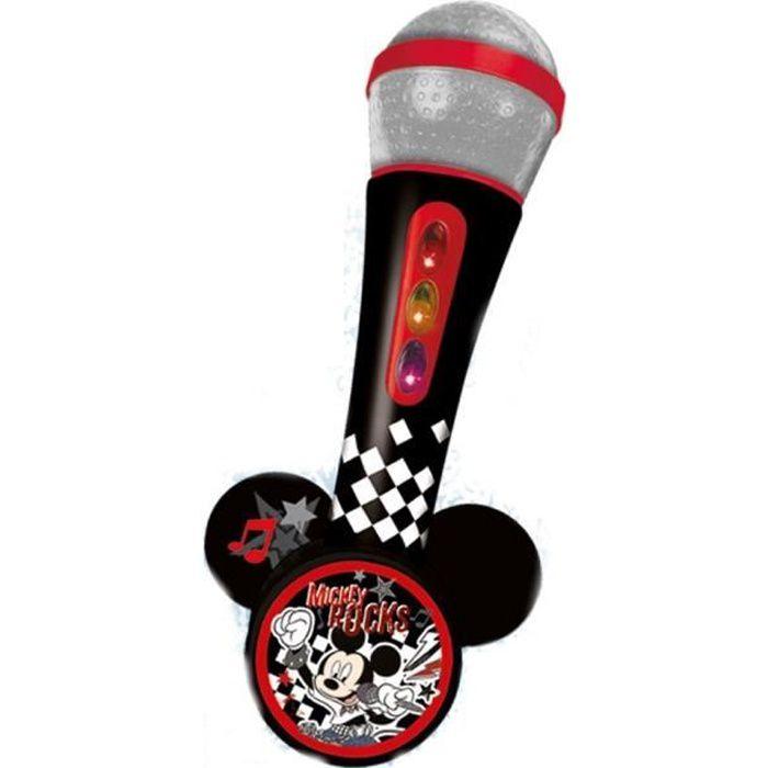 MICKEY Microphone avec amplificateur - Mélodies et lumières - A piles