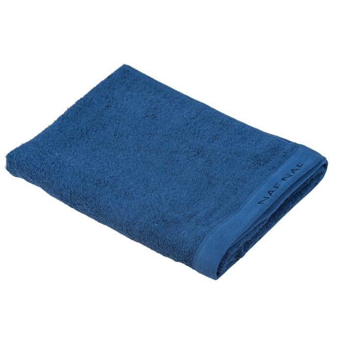 NAF NAF Drap de bain 100% coton Casual - 70x140 cm - Bleu marine