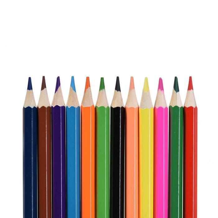 12 couleurs non toxiques dessin crayons de couleur en bois coloriage set pour etudiants adultes. Black Bedroom Furniture Sets. Home Design Ideas
