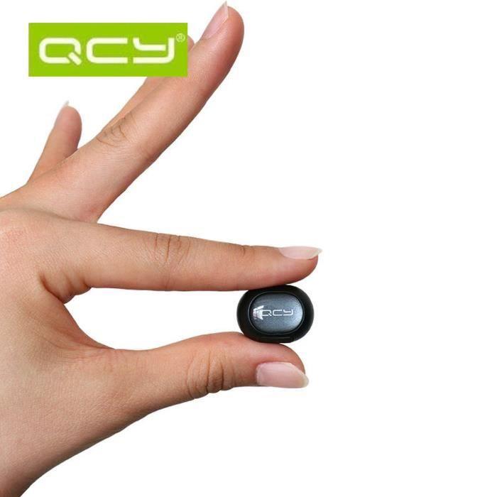 Qcy Q26 Mini Casque Bluetooth Sans Fil Oreillette Invisible Blanc
