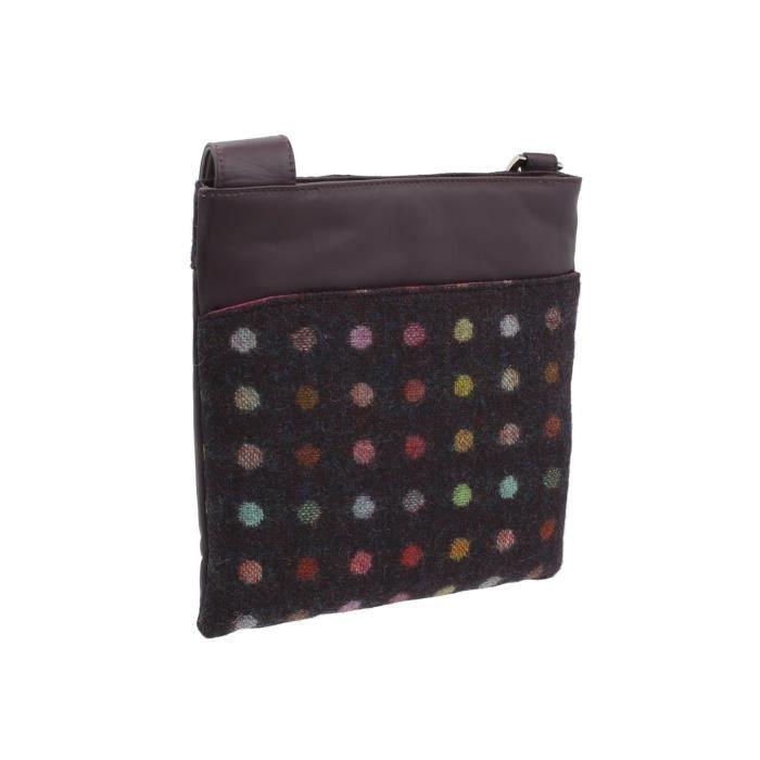 Collection Abertweed cuir et tweed Cross Body Bag 752_40 PV97U