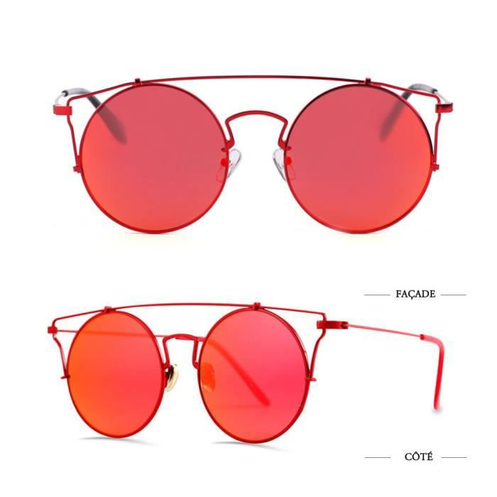 Super Lovers Femmes Lunettes de Soleil rouge /Orange protection UV
