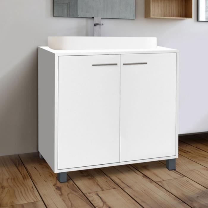 Meuble Sous Lavabo Blanc Pour Vasque De Salle De Bain Achat