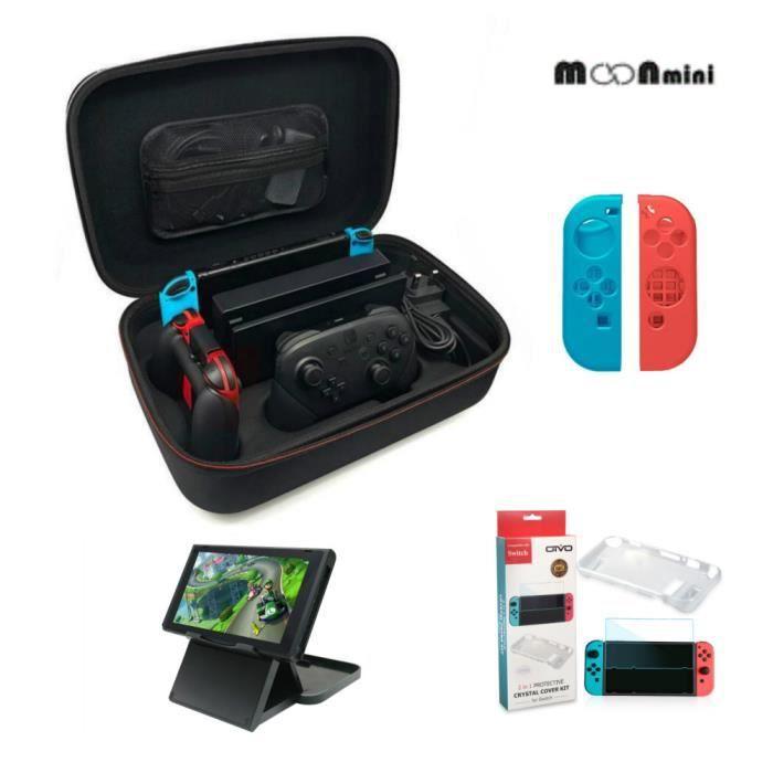 PACK ACCESSOIRE Moonmini®kit d'accessoires Nintendo Switch Nintend
