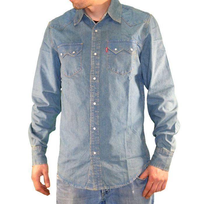 nouvelle collection magasiner pour l'original prix incroyable Chemise en jeans levis homme