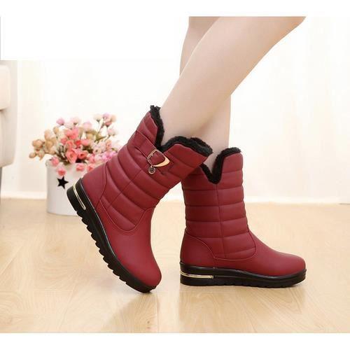 l'épaississement des bottes d'hiver chaud antidérapantes coton chaussures
