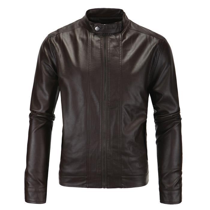 Blouson cuir moto classique
