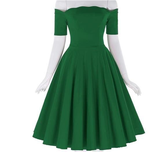2017 femmes dress robe vintage encolure noir dété dress1950 s 60 s rétro rockabilly swing parti robes