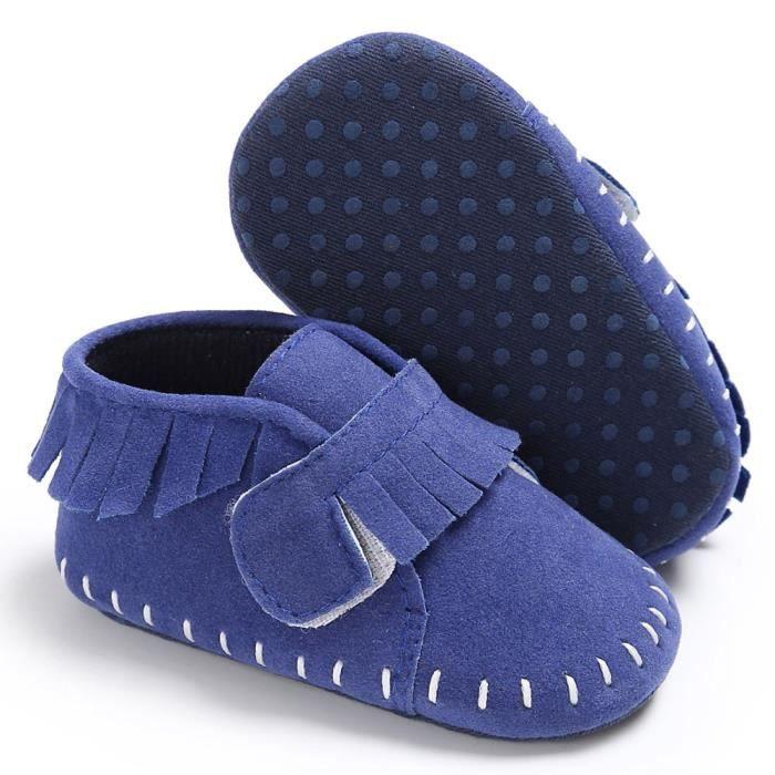 BOTTE Chaussures bébé garçon fille nouveau-né crèche chaussures à semelle souple@BleuHM
