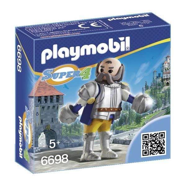 FIGURINE - PERSONNAGE PLAYMOBIL 6698 Super4 Sire Ulf Le Garde Royal