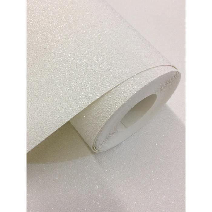 Papier Peint Blanc Pailleté : Carat papier peint glitter blanc p s achat