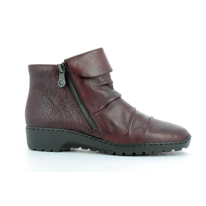 Boots en cuir femmes RIEKER - Z6083-35 4mcfAL