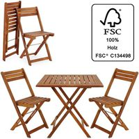 Salon de jardin en bois d\'acacia certifié FSC® - Achat / Vente ...