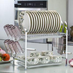 EGOUTTOIR À COUVERTS 2 Tiers Panier à vaisselle Cuisine à domicile sèch