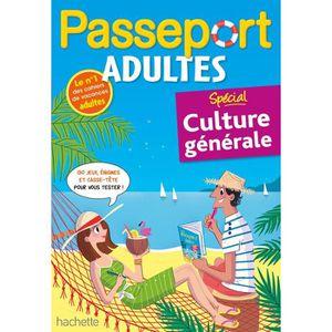 AUTRES LIVRES Passeport Adultes - Spécial culture générale- Cahi