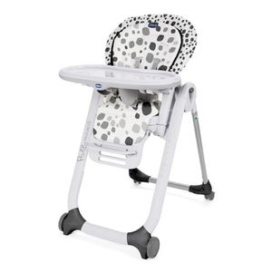 CHAISE HAUTE  CHICCO Chaise Haute Polly Progres5 4 Roues - Anthr