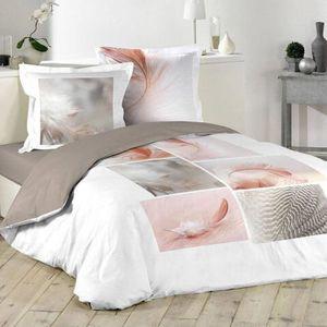 housse de couette plume 240x260 achat vente pas cher. Black Bedroom Furniture Sets. Home Design Ideas