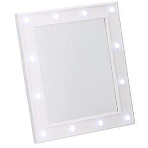MIROIR HOLLYWOOD Miroir avec éclairage LED 32,5x27,5x2,5