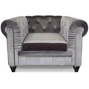 fauteuil chesterfield velours achat vente fauteuil chesterfield velours pas cher cdiscount. Black Bedroom Furniture Sets. Home Design Ideas