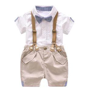9cbafe03d459c Ensemble de vêtements Enfants Bébés garçons d été Gentleman Bowtie Chemi