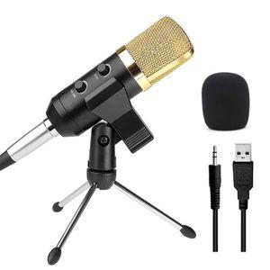 MICROPHONE - ACCESSOIRE USB Microphone Micro à Condenseur Sonore Audio Stu