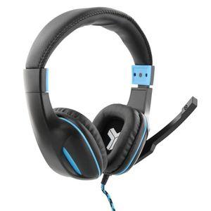 elyte hawk casque gaming avec micro pour pc mac et ps4 bleu noir prix pas cher cdiscount