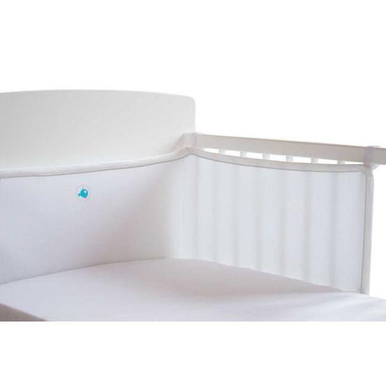 DOUXNID NOVA Tour De Lit Complet Eole 360 - Pour Lit 60x120cm - Blanc -  Maille 3D