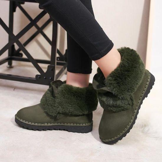 50c9b4b3ef36a D hiver D hiver Chaussures Luxe Bottines Mode Femme Femme Femme Vert 2018  De Neige HvHwq60X