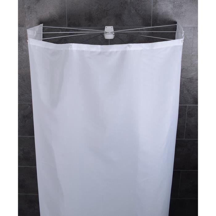 Cabine de douche pliable Ombrella Madison avec rideau de douche - BlancRIDEAU DE DOUCHE
