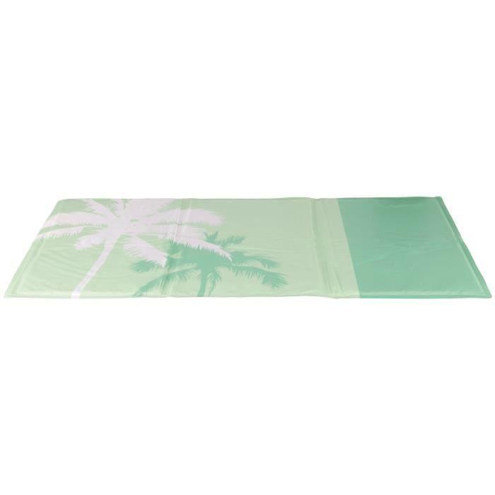 TRIXIE Matelas rafraîchissant Tropic - 90 × 50 cm - Vert menthe - Pour chien