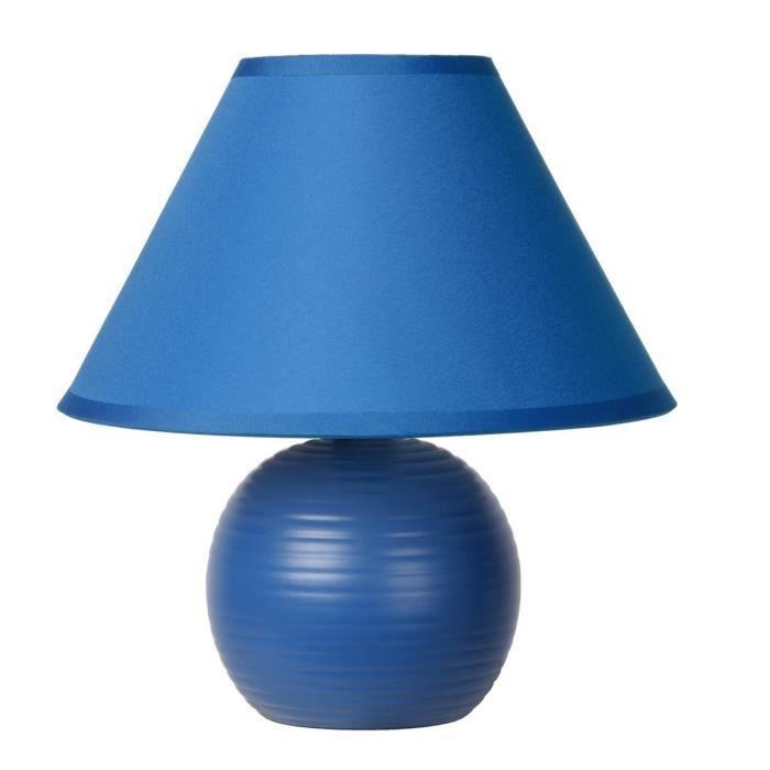 Penny Poser Céramique En Lampe Et Tissu Classique Lampea Bleu À kNnwOXP80
