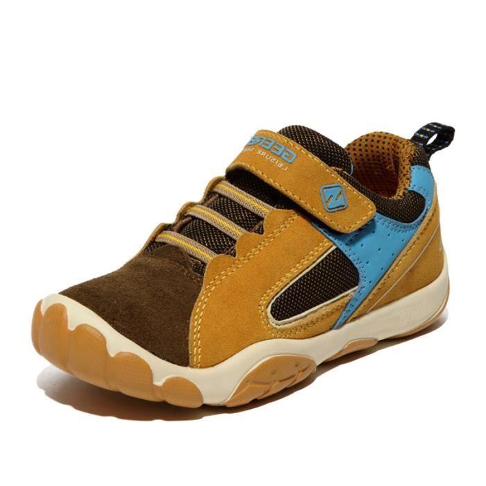 8cd8a651c6aa0 Basket enfant chaussures de sport pour enfants chaussures en cuir Collision  baskets garçons filles chaussures de course