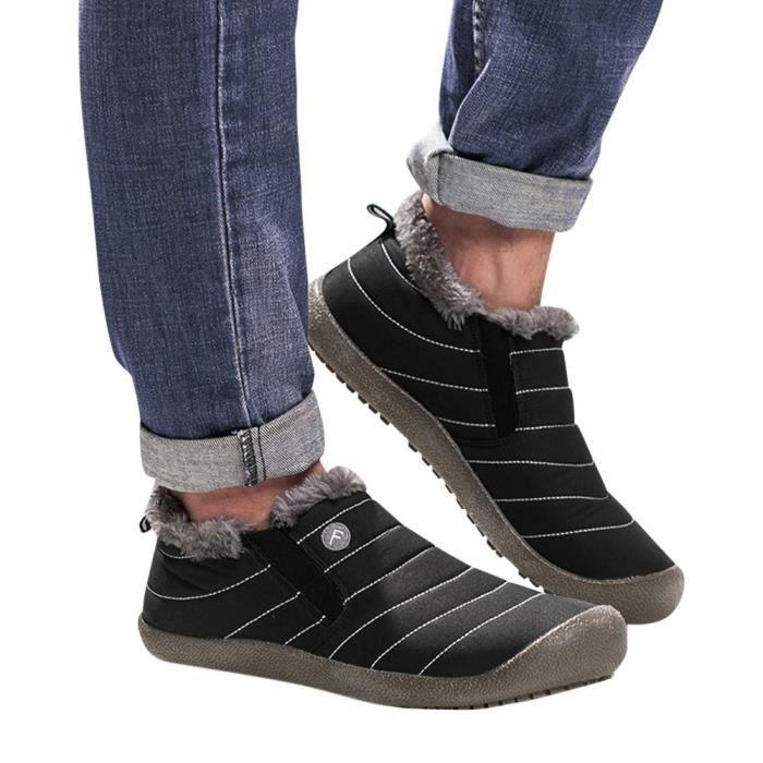 BOTTE oppapps151 Les femmes plus de velours Chaussures d