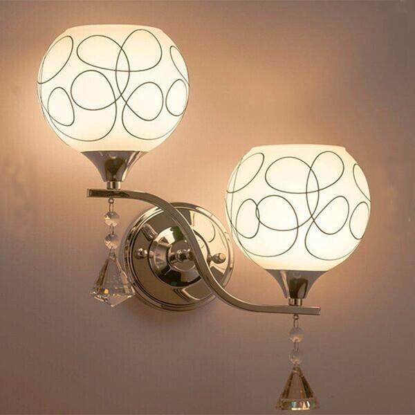 Applique murale Éclairage de chambre à coucher en cristal moderne ...