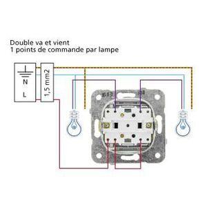 Interrupteur double lumineux achat vente interrupteur for Branchement interrupteur va et vient