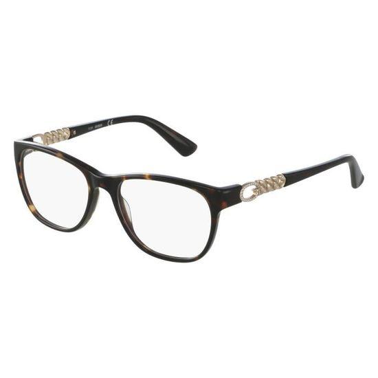Lunettes de vue Guess GU2559 -50 Havane foncé - Or Havane foncé - Or -  Achat   Vente lunettes de vue Lunettes de vue Guess Femme Adulte Marron -  Soldes  dès ... 862cba535f23