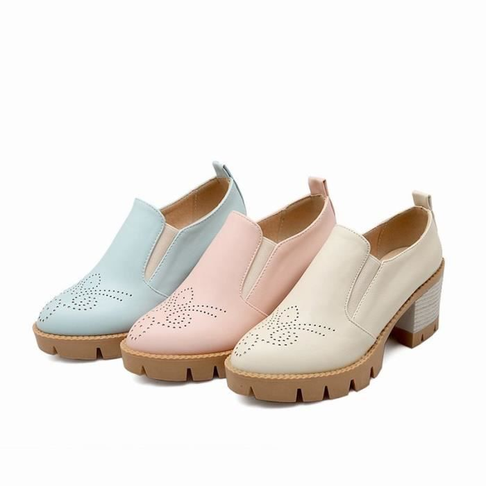 Chaussures Femme élégante En PU Cuir Plateforme Toutes les pointures de la 35 à la 43