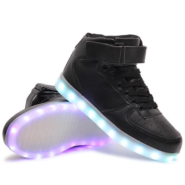 Haut-dessus LED Chaussures Enfants USB Charge LED Lumineux Chaussures de Sports Baskets Chaussures Garçon Fille/Homme Femme