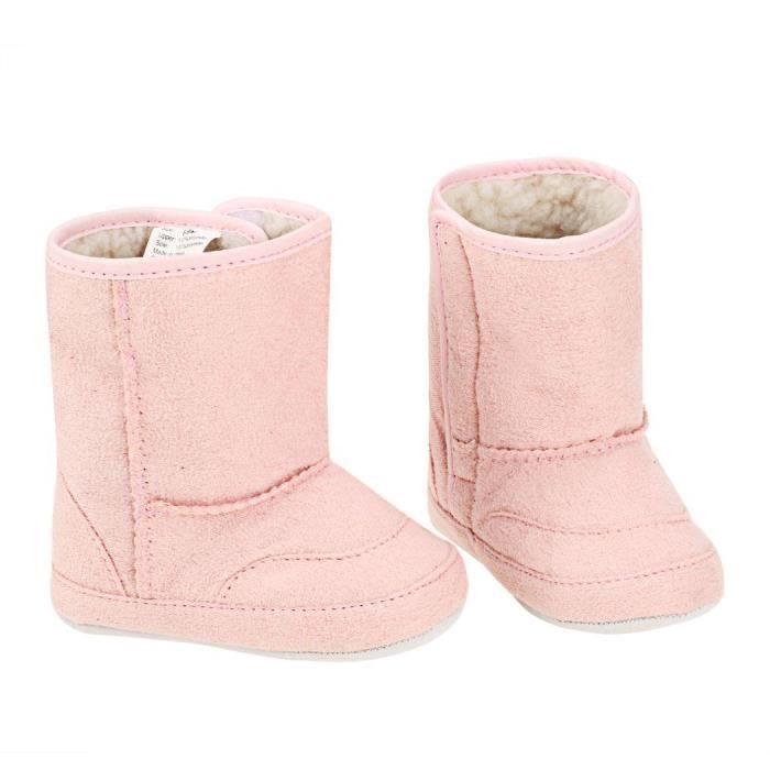 Sidneyki®Bottes d'hiver des femmes en peluche chaussures à lacets en plein air chaud cheville bottes de neige Rose XKO731 CUCSJ37u