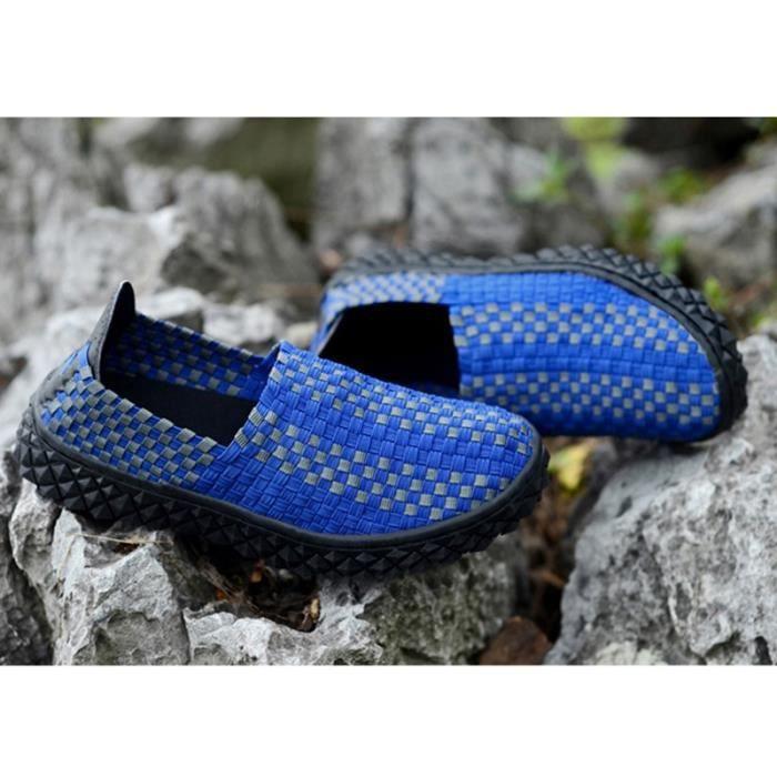 Le tissage de la mode coréenne hommes Slip-on Chaussures plates 0bIeHxsoIh