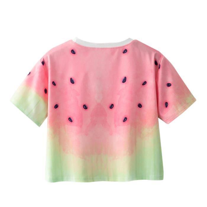 À T Chemisier Géométrique Femmes Manches Des O shirt Courtes Animal cou Imprimer 5508 En Vrac Pq4wYO