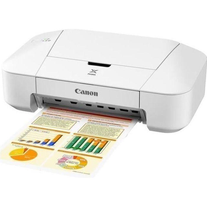 Imprimante Canon jet d'encre Compact Pixma iP2850 - résolution 4800 x 600 dpi - connectique USB 2.0 - compatible : Windows Vista/7/8/XP et Mac OS X 10.6.8 ou supérieur. Compatible avec la technologie FINEIMPRIMANTE